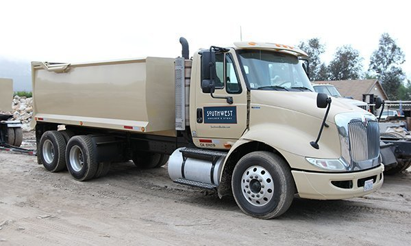 Large 10-wheel Southwest Boulder & Stone branded truck
