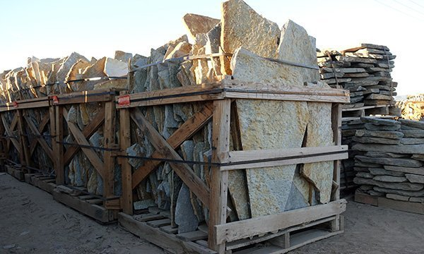 Palletized rows flagstone